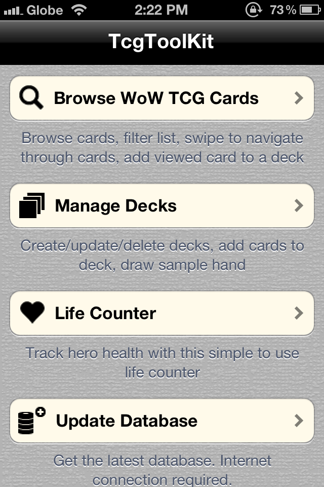 Screenshot TcgToolKit – WoW edition – FREE